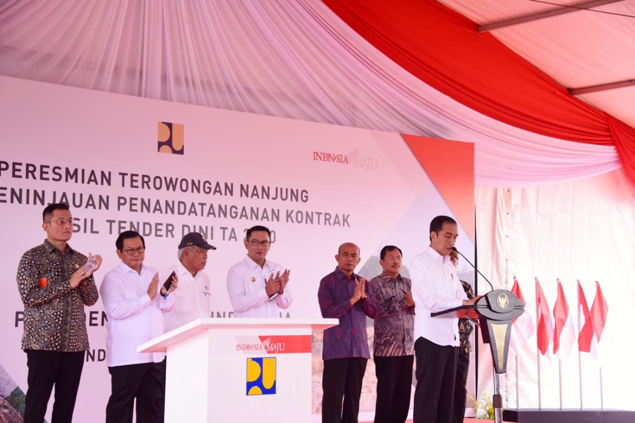 Terowongan Nanjung Diresmikan Presiden Jokowi