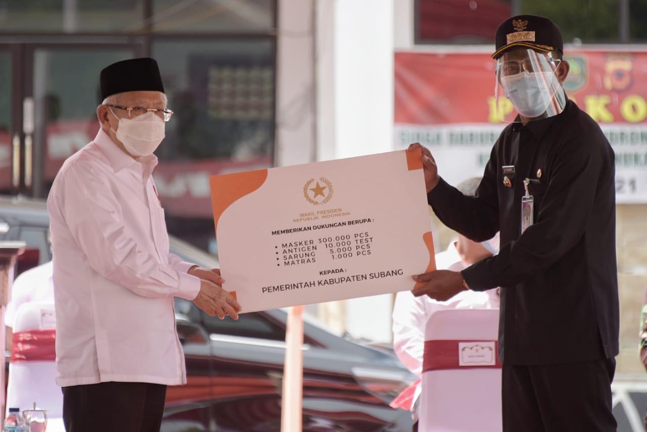 Ini Pesan Wapres Ma'ruf Amin saat Tinjau Korban Banjir di Subang dan Karawang